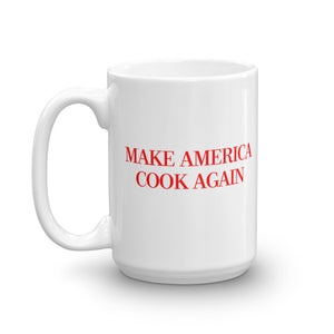MAKE AMERICA COOK AGAIN - Slogan Mug (Red)
