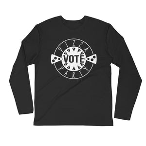 PIZZA PARTY - Premium Fitted Long Sleeve Crew