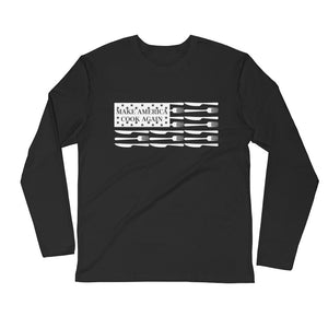 MACAmerica FLAG - Premium Fitted Long Sleeve Crew