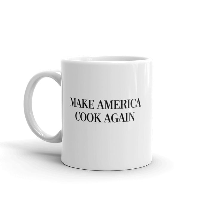 MAKE AMERICA COOK AGAIN - Slogan Mug (Black)