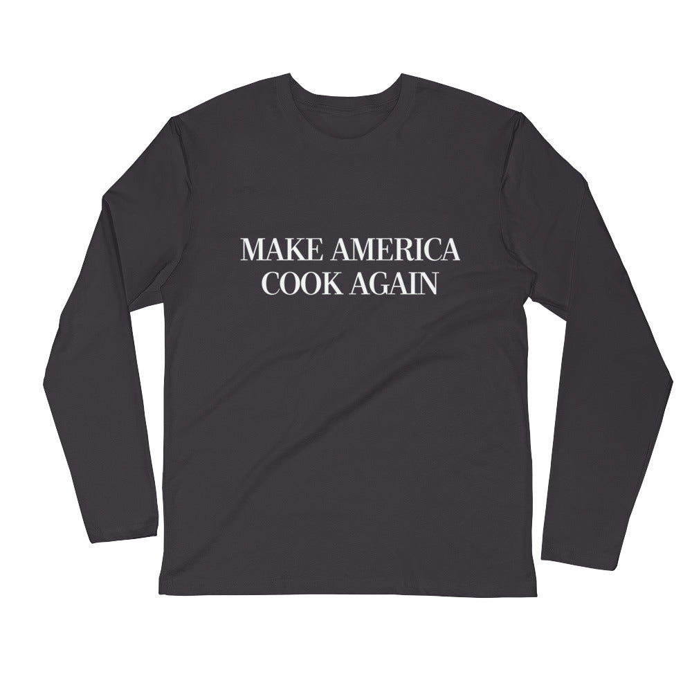 MAKE AMERICA COOK AGAIN - Premium Fitted Long Sleeve Crew
