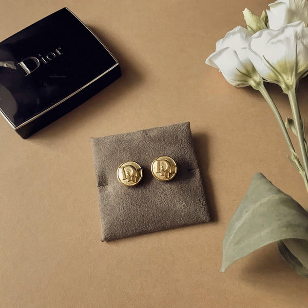 Dior Button Earrings