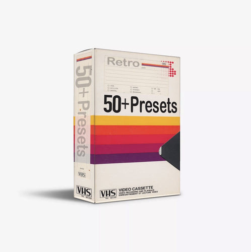 50+ VHS Presets Pack (ON SALE TODAY ONLY)