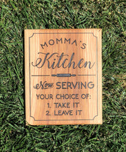 Load image into Gallery viewer, Sign: Momma's Kitchen