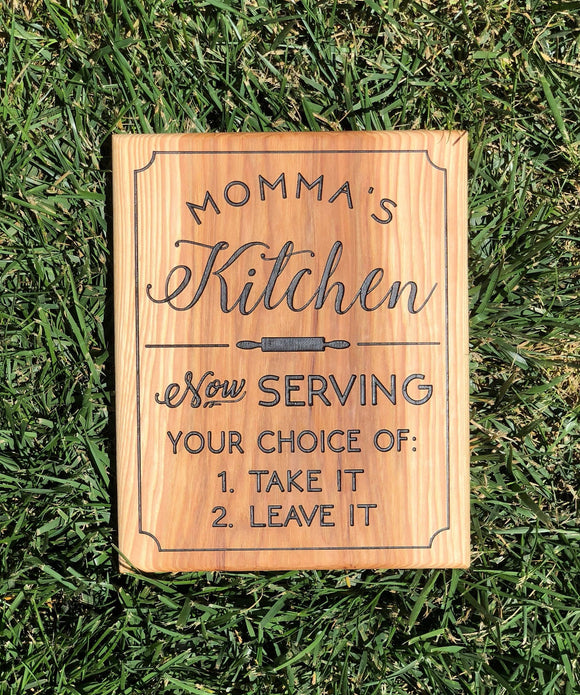 Sign: Momma's Kitchen