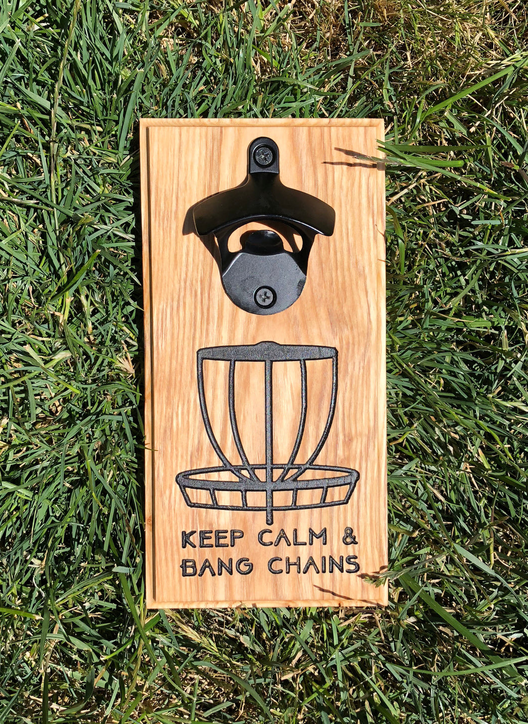 Magnetic Bottle Opener: Keep Calm Disc Golf Basket