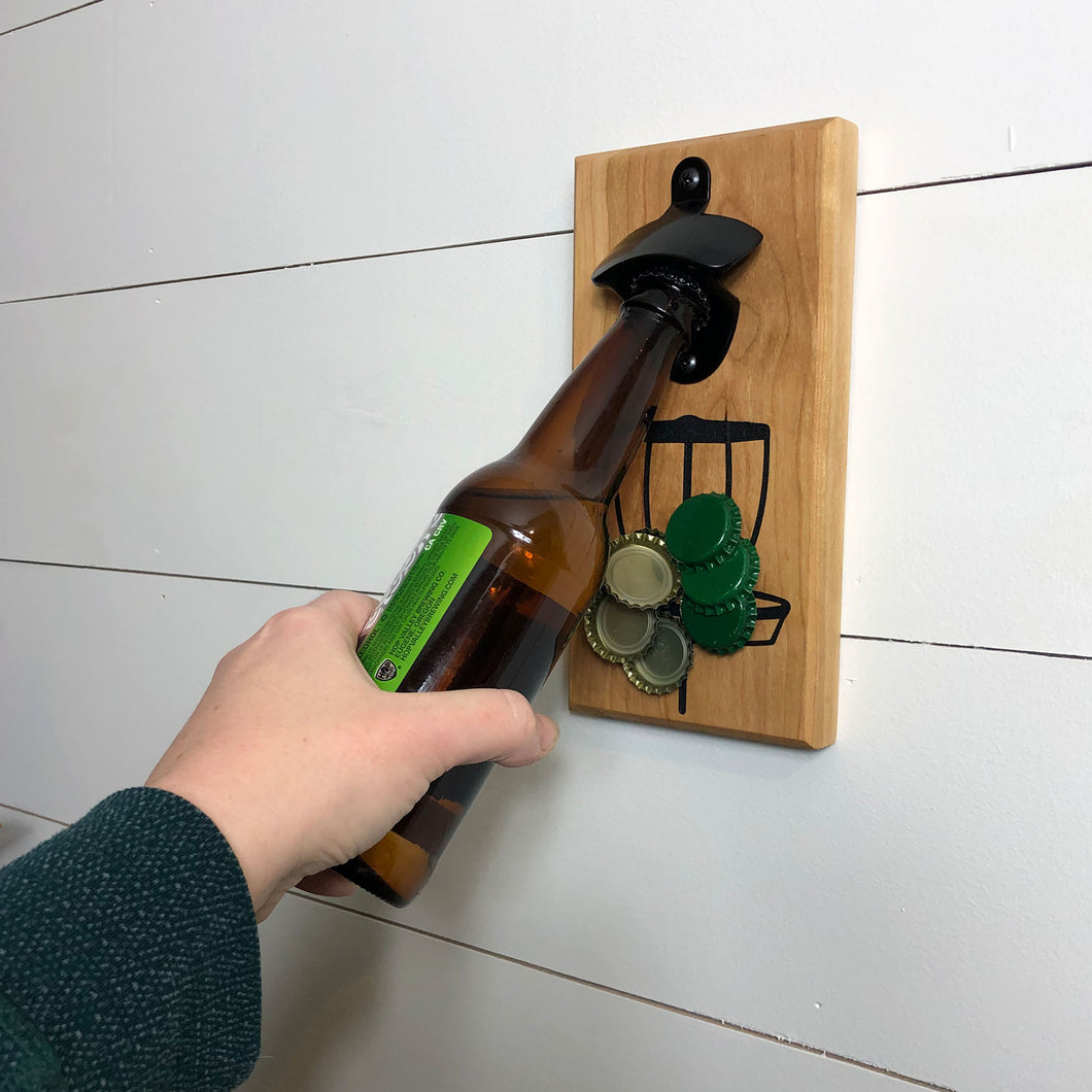 Magnetic Bottle Opener: Disc Golf Basket