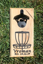 Load image into Gallery viewer, Magnetic Bottle Opener: Personalized Disc Golf Basket