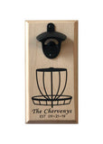 Magnetic Bottle Opener: Personalized Disc Golf Basket
