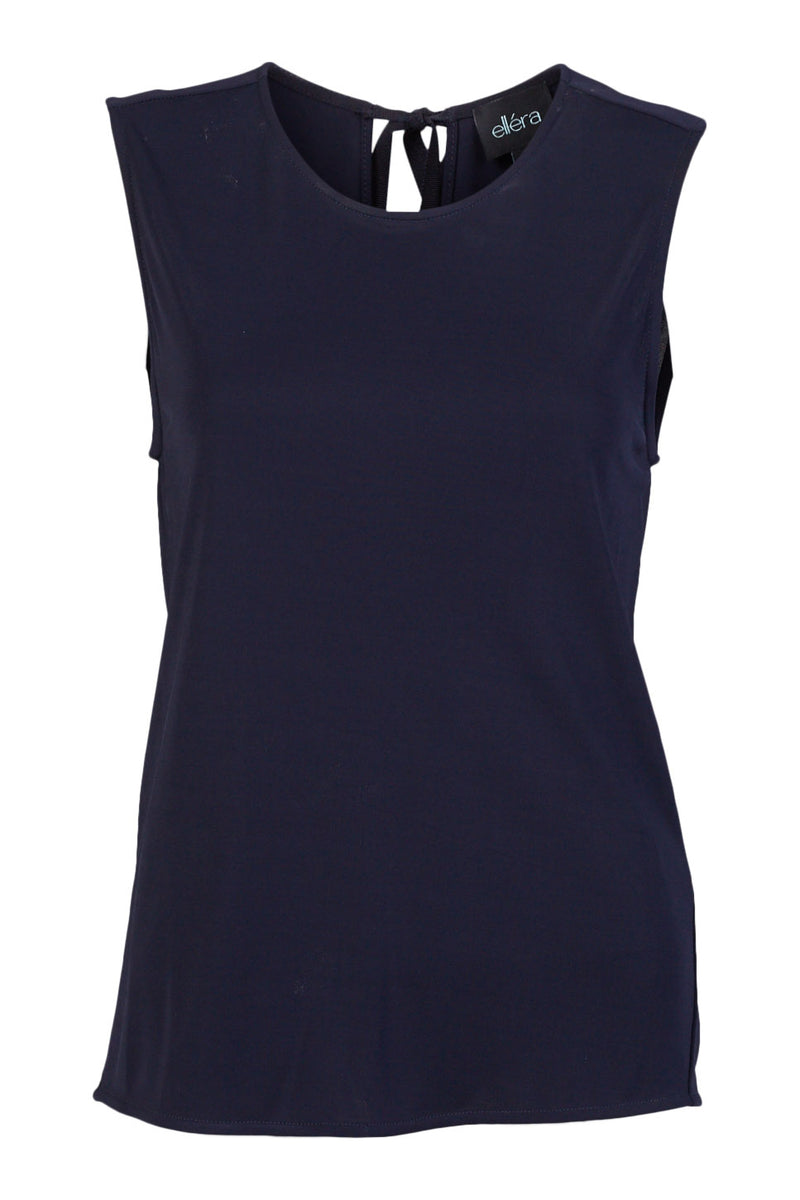 navy Bodrum Cowl Back Top ellera