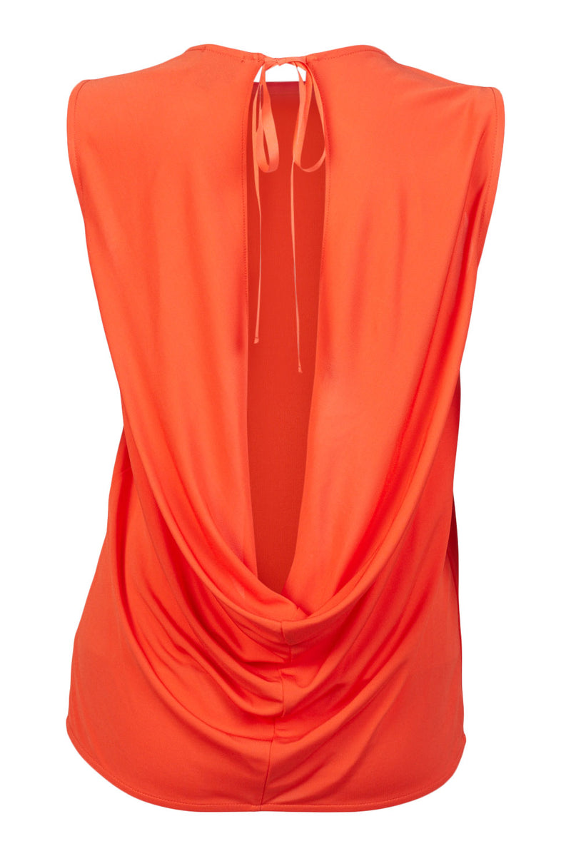 orange Bodrum Cowl Back Top ellera