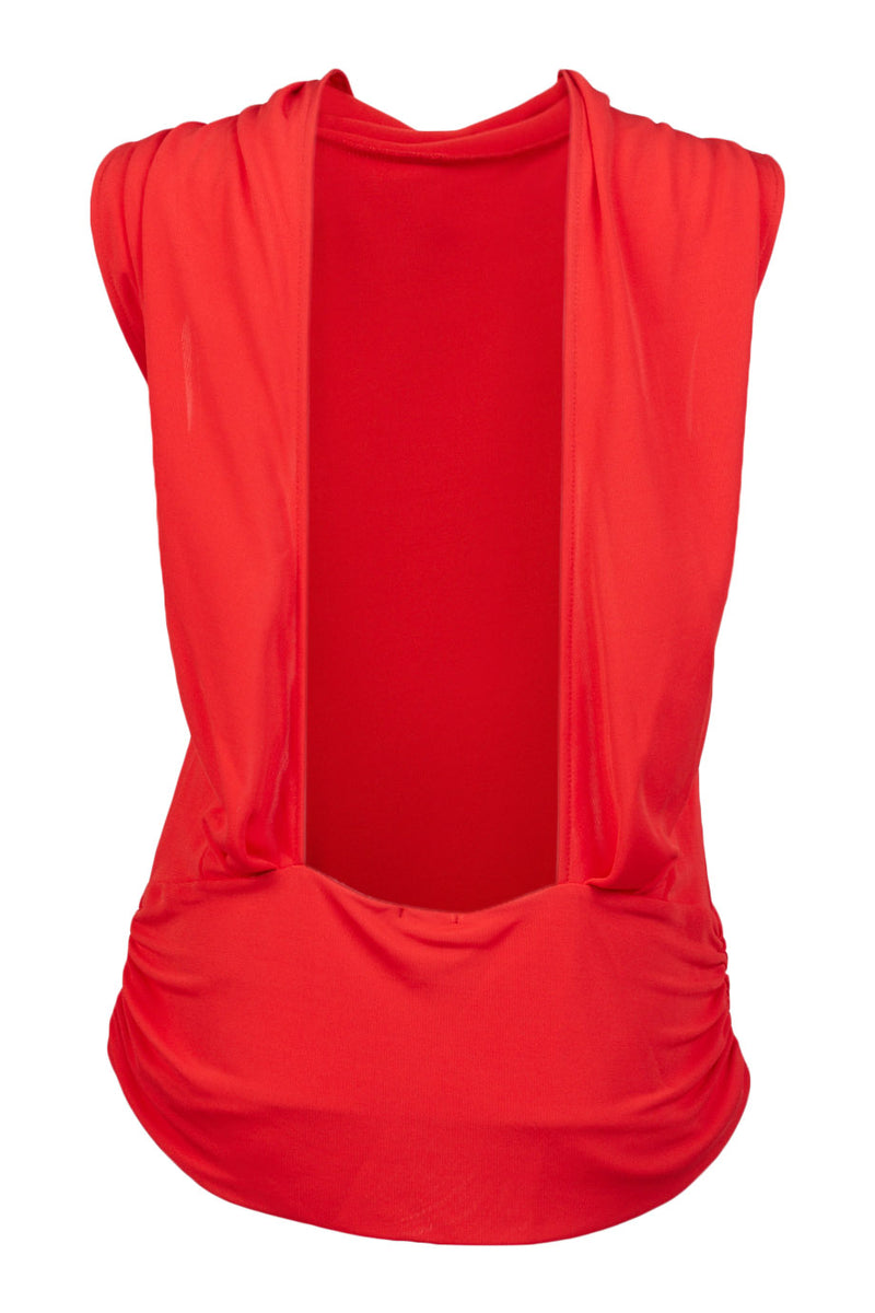 viscose red Barcelona Top ellera
