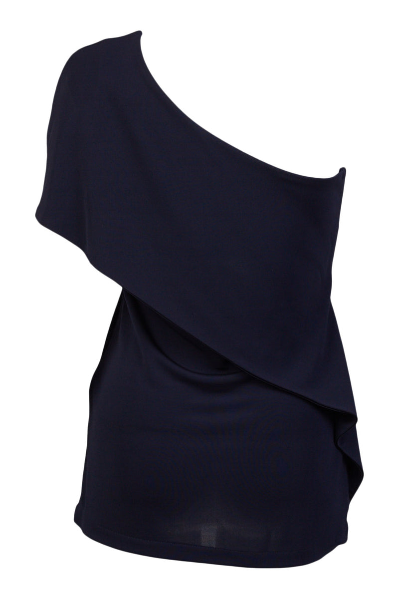 one shoulder navy Amalfi Top ellera