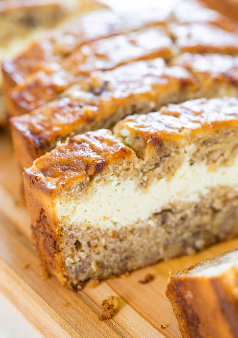 Cheesecake Filled Protein Banana Bread