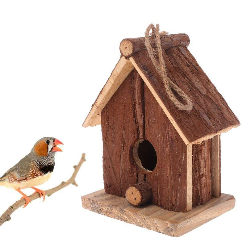 Natural Wooden Birdhouse