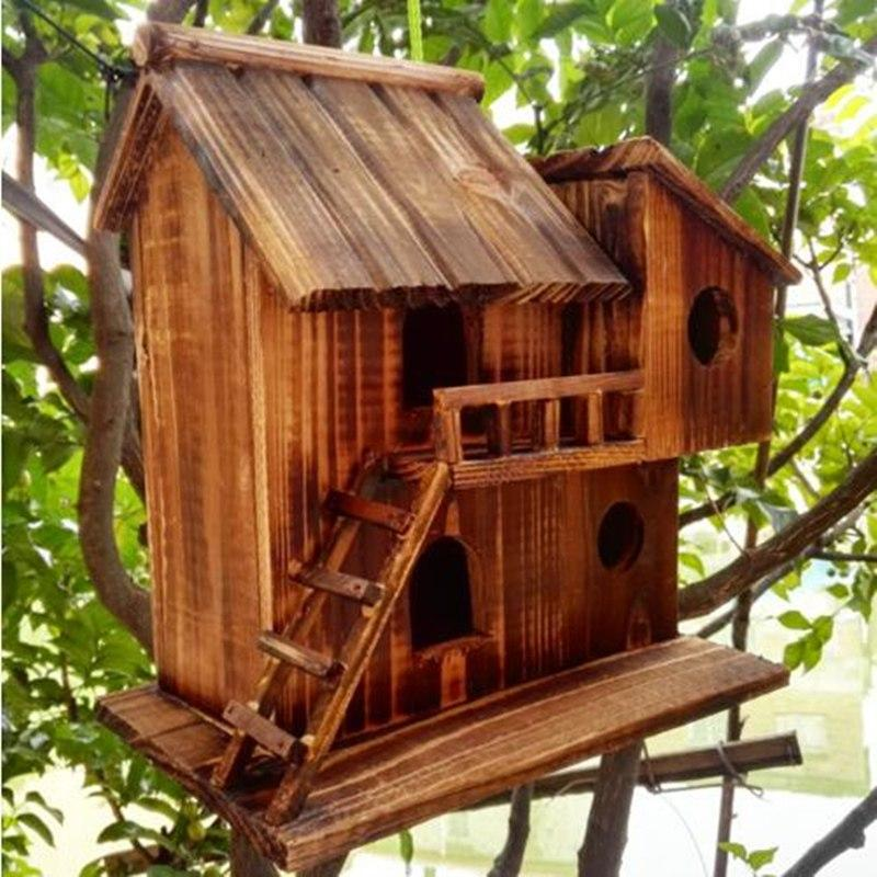 Wooden Birdhouse Mansion