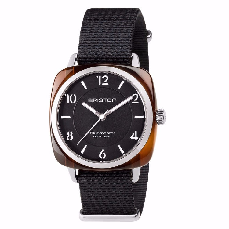 Briston - Clubmaster Chic Acetate - HMS tortoise shell black dial