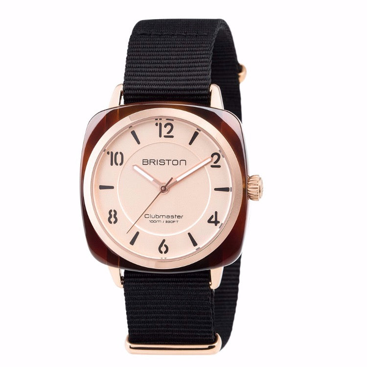 Briston - Clubmaster Chic Acetate - HMS Gold Rose gold dial