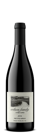 Wilson Family Vineyard Petite Sirah Red wine from Paso Robles United States 2015 or Current Vintage