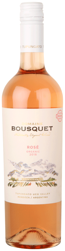 Domaine Bousquet Orgánic Grape Rosé Rosé wine from Tupungato Argentina 2019 or Current Vintage