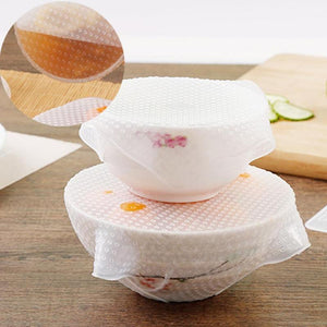 Stretch N Seal Reusable Food Cover, 4 pieces in different sizes