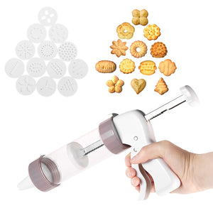 Quick & Easy Cookie Maker (13 Patterned Disks And 6 icing Tips).