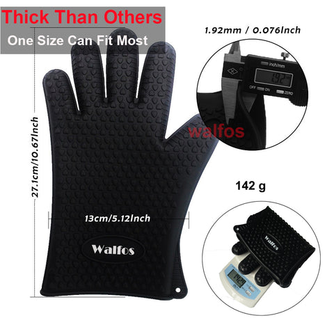 Image of Heat Resistant Silicone Kitchen Gloves