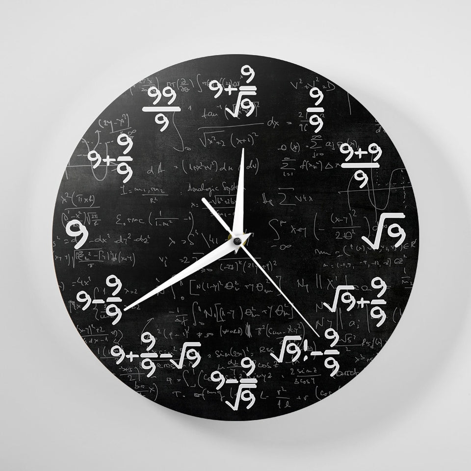The 9s Math Wall Clock