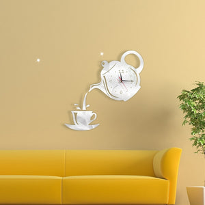 Teapot & Cup Wall Clock