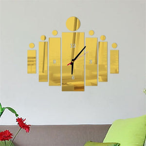 3D Rectangular Wall Clock