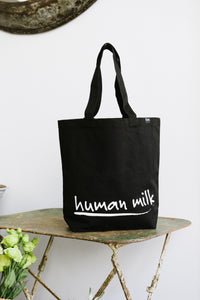 Human Milk signature tote bag - Black