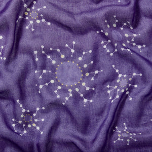 Snowflake scarf - Purple