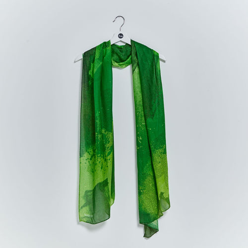 Heart scarf - Forest Green