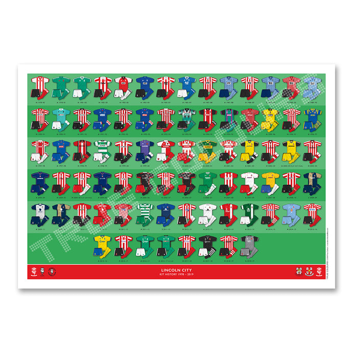 Lincoln City Kit History A3 Print