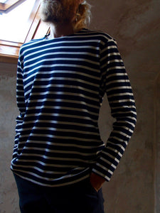Breton Top | Fairtrade (Navy)