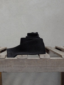 Silk Knit Tie (Black)
