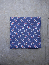 Load image into Gallery viewer, Paisley Hankerchief (Blue)