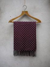 Load image into Gallery viewer, Polkadot Silk Scarf (burgundy)