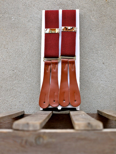 Trouser Braces (Burgundy)