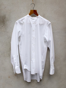 Collarless Shirt (White) single cuffs