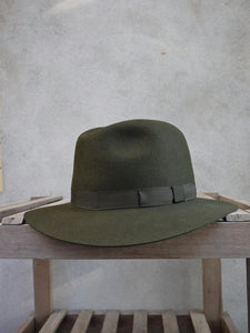 Crushable Trilby Hat (Olive)