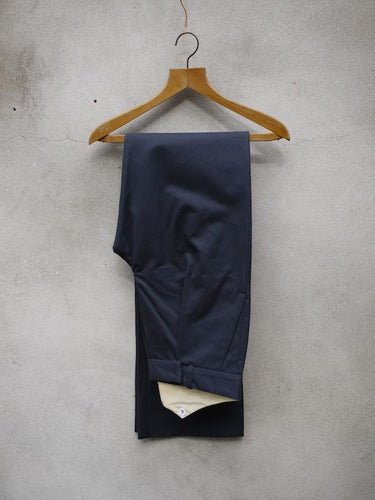 Fishtail Trousers | Cotton Drill (Navy)