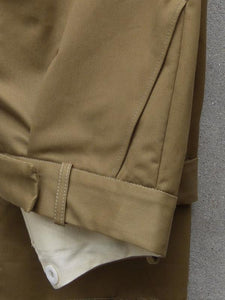 Fishtail Trousers | Cotton Drill (Khaki)