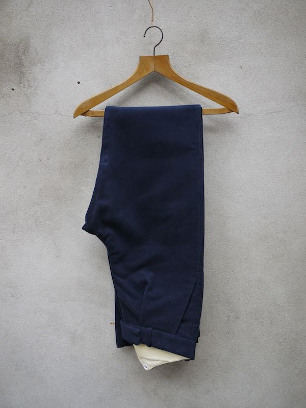 Fishtail Trousers | Moleskin (Navy)