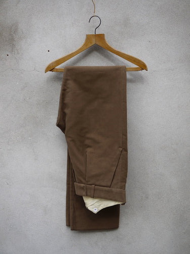 Fishtail Trousers | Moleskin (Tan)
