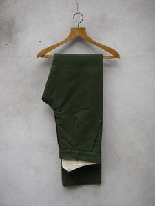 Fishtail Trousers | Moleskin (Olive)