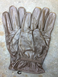 Leather Driving Gloves (Brown)