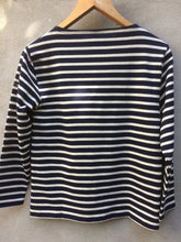 Load image into Gallery viewer, Breton Top | Guildo (Navy)