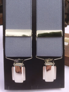 Silver Grey chrome Clip-on Braces by Taggs Est.1863