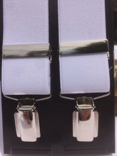 Load image into Gallery viewer, White Chrome Clip-on braces 35mm.width by Taggs est. 1863